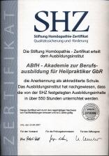 SHZ Zertifikat